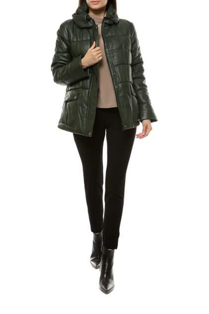 Кожаная куртка женская VITTORIO VENETO VT-Z-1030 зеленая 50