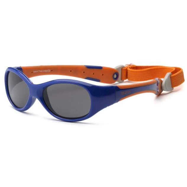 Солнечные очки для малышей Real Kids Explorer 0+ синий, оранжевый
