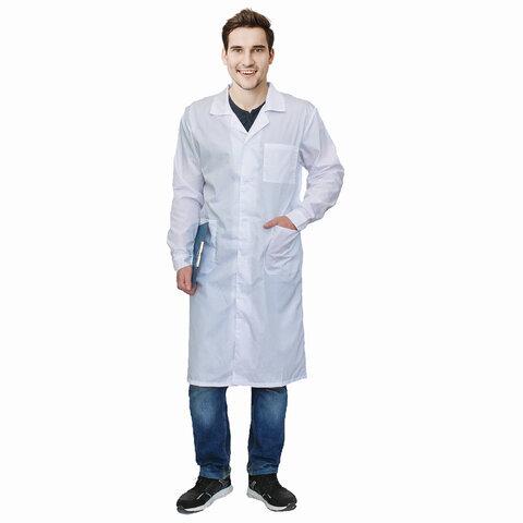 Халат медицинский мужской NoBrand 6107 белый 60-62
