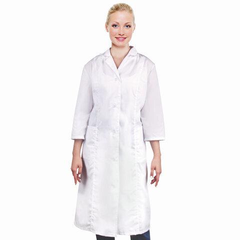 Халат медицинский женский NoBrand 610756 белый 56-58