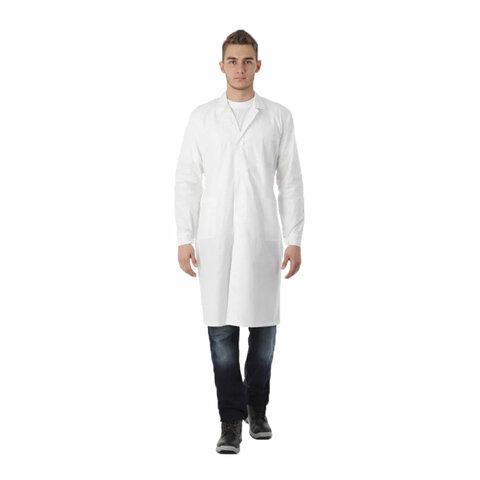 Халат медицинский мужской NoBrand 610728 белый 60-62