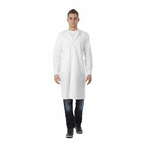 Халат медицинский мужской NoBrand 610728 белый 56-58