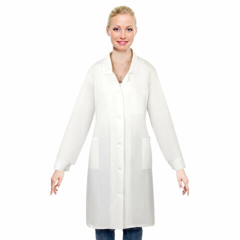 Халат медицинский женский NoBrand 610714 белый 56-58