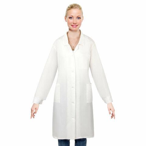 Халат медицинский женский NoBrand 610714 белый 52-54