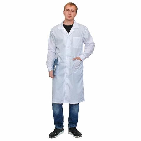 Халат медицинский мужской NoBrand 610768 белый 52-54