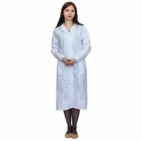 Халат медицинский женский NoBrand 610740 белый 48-50