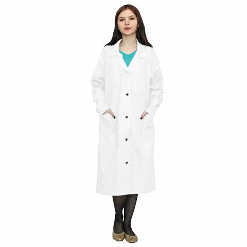 Халат медицинский женский NoBrand 610712 белый 48-50