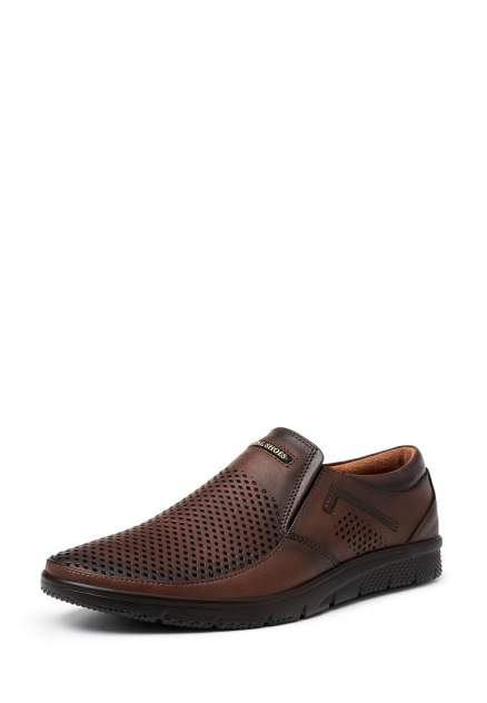 Мужские полуботинки Alessio Nesca P390-1RR, коричневый