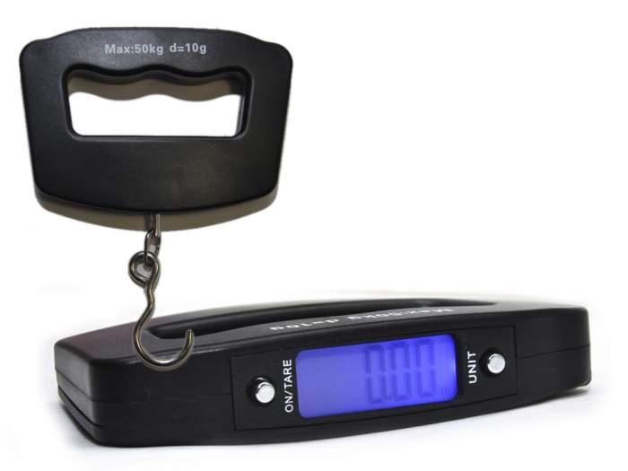 Весы для багажа Sprinter 7739 черные