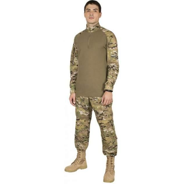 Рубашка тактическая с д/р р. 54/5 цвет мультикам/хаки (9404)