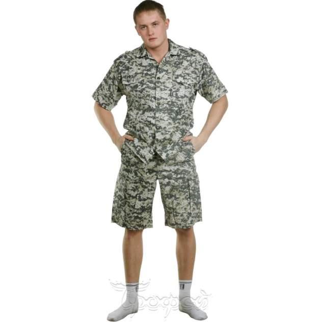 Рубашка мужская Космо Текс 123605, бежевый, зеленый