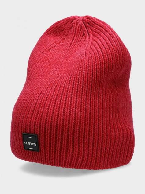 Шапка бини женская Outhorn CAP HOZ20-CAD617-53M красная, р. 52-56
