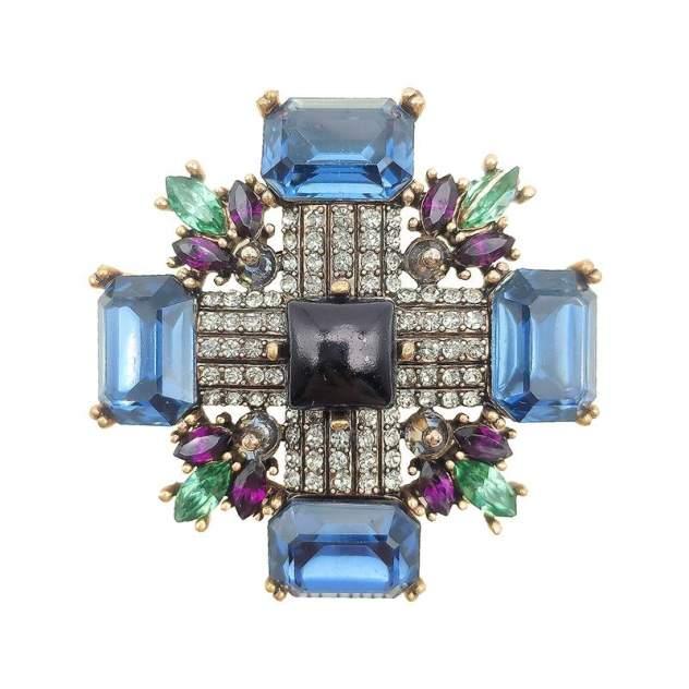 Брошь женская Blucome Орден (квадрат) разноцветная