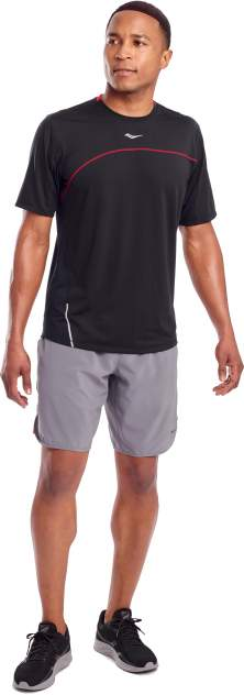 Футболка Saucony Drafty Short Sleeve, red, XL
