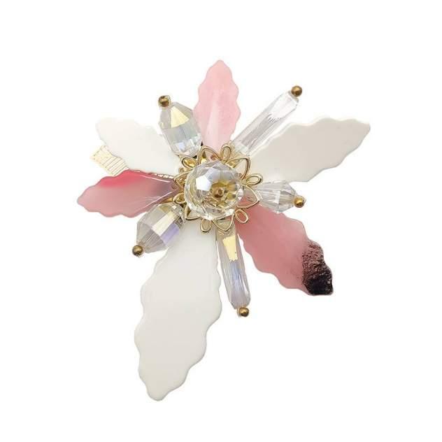 Брошь женская Fashion Jewelry Цветок розовая