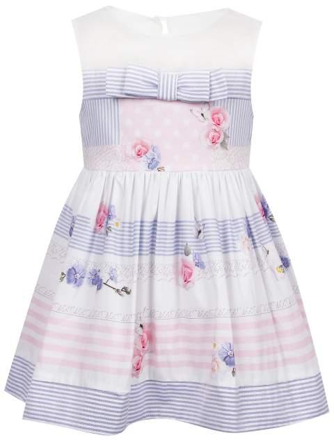 Платье Lapin House цв. белый/полоска, р. 74