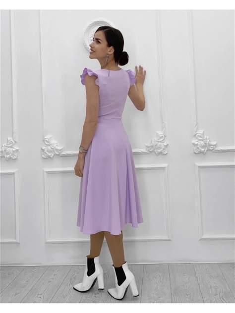 Повседневное платье женское Nadi Bordo 3634 фиолетовое 44-M