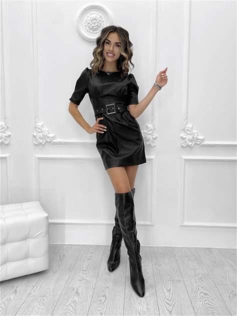 Повседневное платье женское Nadi Bordo 3302 черное 44-M