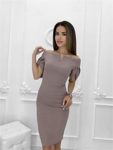 Повседневное платье женское Nadi Bordo 3273 бежевое 46-L