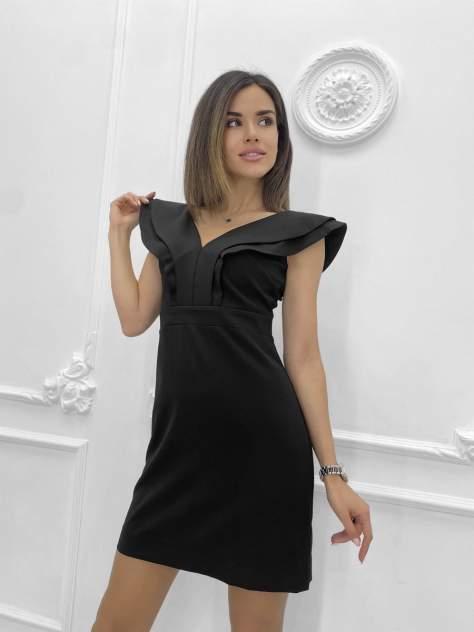 Повседневное платье женское Nadi Bordo 3226 черное 46-L