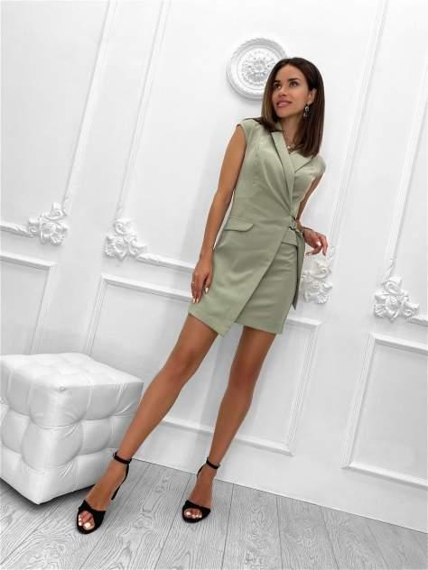 Повседневное платье женское Nadi Bordo 3095 зеленое 42-S