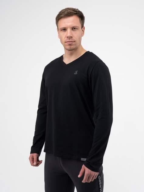 Лонгслив мужской Великоросс Мягкий хлопок черный 60 RU