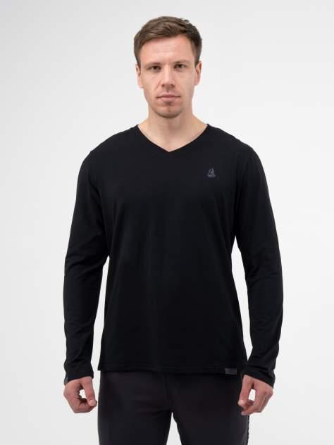 Лонгслив мужской Великоросс Мягкий хлопок черный 58 RU