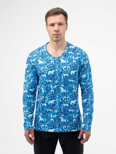 Лонгслив мужской Великоросс Русский лес синий 62 RU