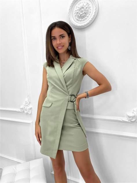 Повседневное платье женское Nadi Bordo 3095 зеленое 46-L