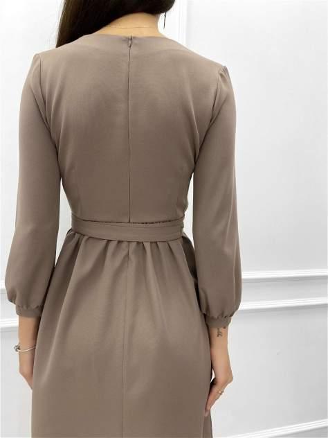 Повседневное платье женское Nadi Bordo 2996 коричневое 42-S