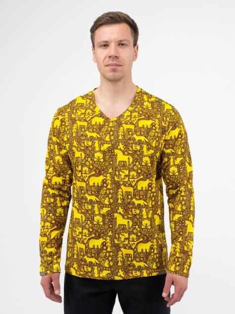 Лонгслив мужской Великоросс Русский лес желтый 58 RU