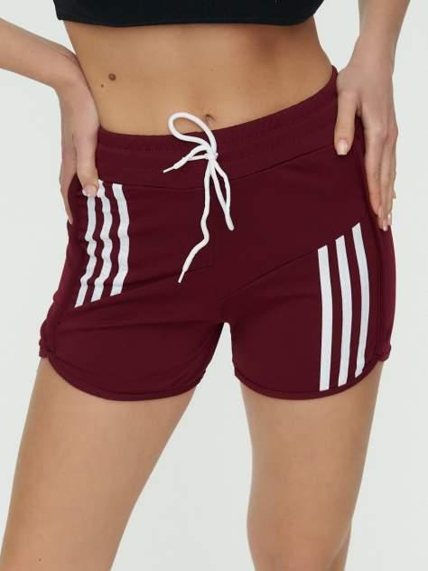 Спортивные шорты женские 3006Bo бордовые 42