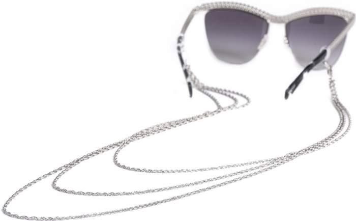 Цепочка для очков из серебра 85 см Красцветмет NH-22-1583-3-0-50