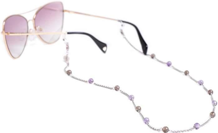 Цепочка для очков из серебра 80 см Красцветмет NH-22-1582-3-0-60