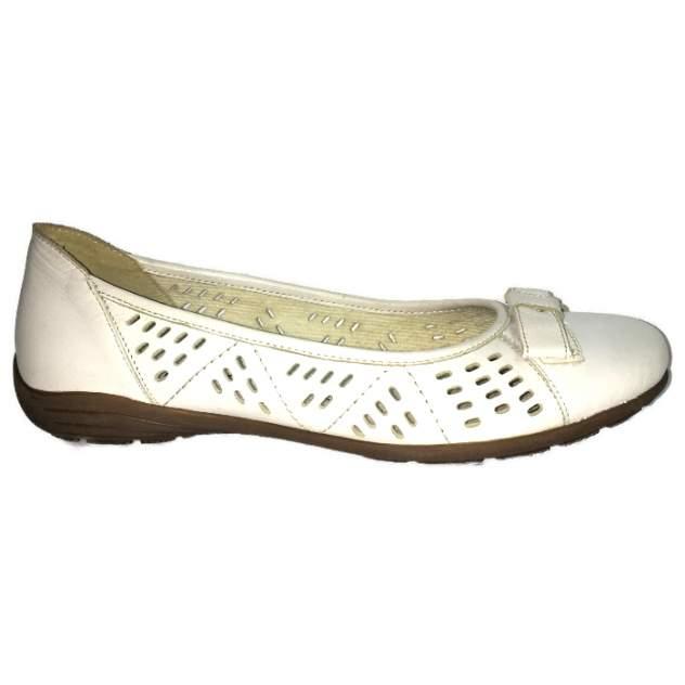 Балетки женские REMONTE D4602-02 белые 41 RU