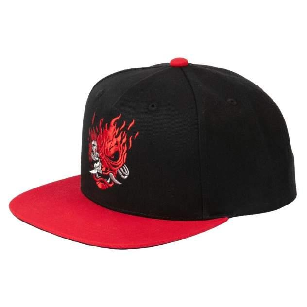 Бейсболка мужская Jinx Cyberpunk 2077 Samurai Logo черная/красная