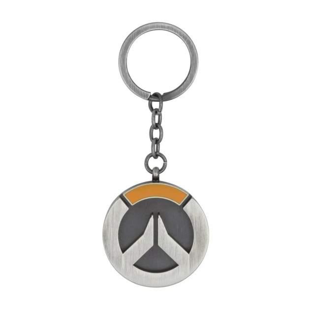 Брелок мужской Blizzard Overwatch Logo Keychain Серый/Стальной