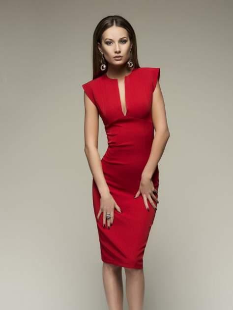 Повседневное платье женское 1001dress DM00015RD красное 40