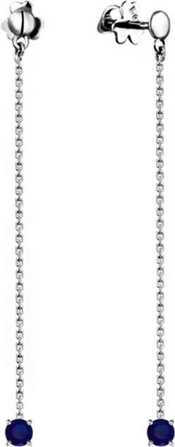 Серьги из серебра с сапфиром СБ Золото SG-26/03709/1S2