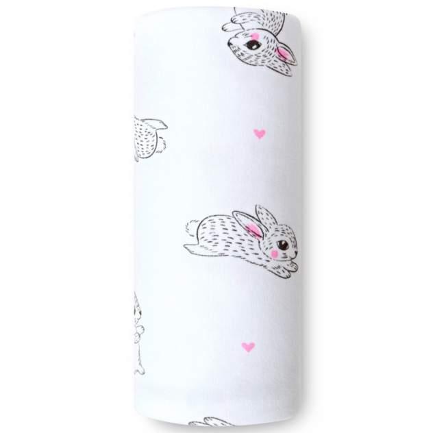 Пеленка детская loombee трикотажная для новорожденных (90x110 см) OS-2231