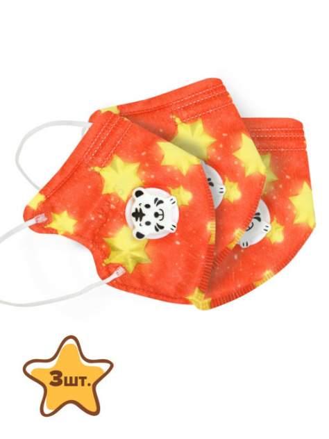 Набор многоразовых масок детских KN95 WPO000056 оранжевых