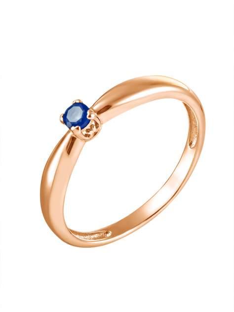 """Кольцо женское SamoroDki Jewelry """"Капелька"""" с сапфиром из серебра золочение р.16.5"""