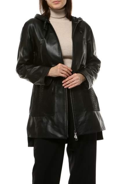 Кожаная куртка женская VITTORIO VENETO 1703 черная 44