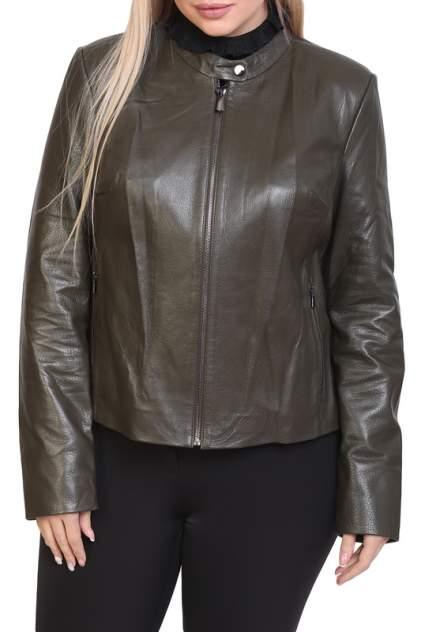 Кожаная куртка женская EXPO FUR 1671 зеленая 40
