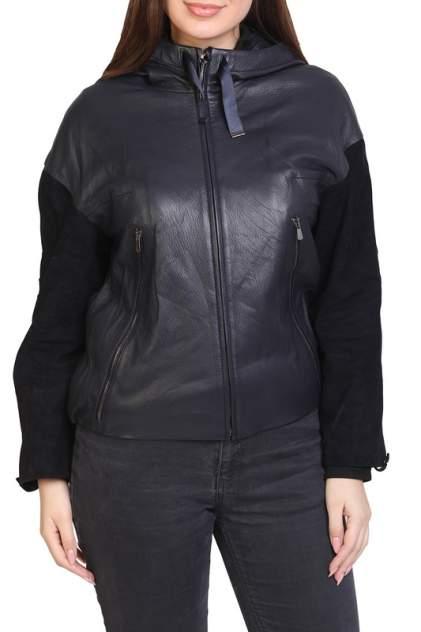 Кожаная куртка женская EXPO FUR 1668 синяя 42