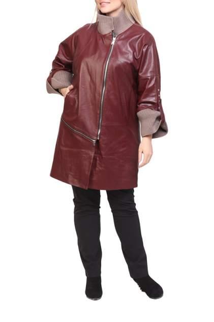 Кожаная куртка женская EXPO FUR 1057 красная 40