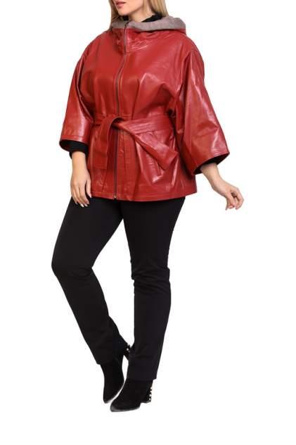 Кожаная куртка женская EXPO FUR 155 красная 40