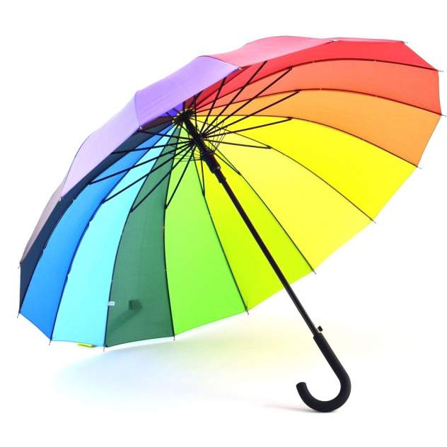 Детский зонт Радуга полуавтомат разноцветный