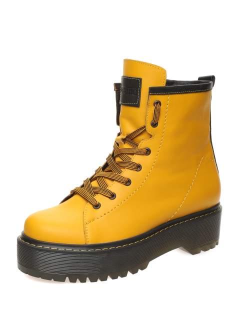 Ботинки женские MAKFLY 114MF-7-4, желтый