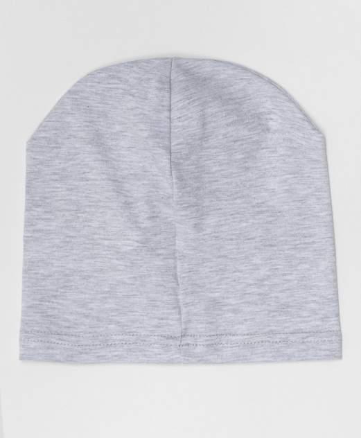 Серая трикотажная шапка Button Blue для мальчиков 50